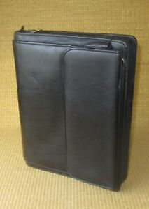 Classic desk 1 125 Rings Black Leather Day runner timer Planner binder Purse