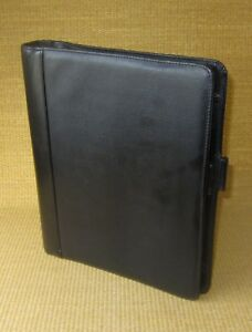 Monarch 1 5 Rings Black Textured Sim Leather Franklin Covey Planner binder