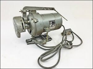 Vintage Clutch Motor Commercial Sewing Machine Transmitter Diamond Needle 1 3 Hp