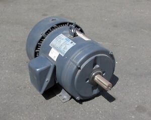 Leeson G130027 10 Ac Motor 1745 Rpm 60hz 208 230 460 V 5 Hp 3 Phase