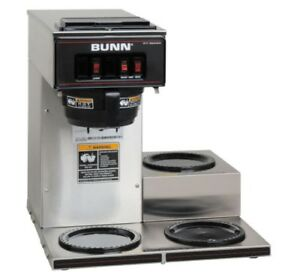 Bunn Vp17 3 Commercial Pour Over Coffee Brewer With 3 Burners