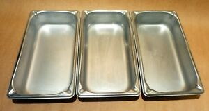 Lot Of Three Vollrath Super Pans Stainless Steel Steam Table Buffet Pan 3032 2
