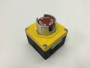 Eao Emergency Stop Switch W 704 910 4 N c Contact Block And Enclosure