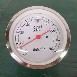 Dolphin Gauges 3 3 8 White Tachometer
