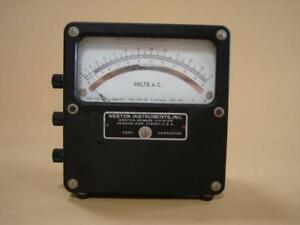 Vintage Weston Model 433 Volts Ac Meter 0 15 0v 30 0v