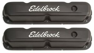Edelbrock 4473 Signature Series Valve Covers Tall For 318 360 Chrysler V8