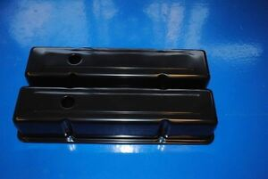 Sbc Small Block Chevy Tall Black Valve Covers 350 383 305 283