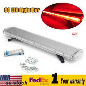 New 47 88 Led Flashing Light Bar Emergency Warning Police Red Roof Strobe Lamp