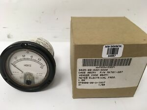 New Mkc Mk701 207 Military Panel Mount Frequency Meter 55 To 65 Hz Generator