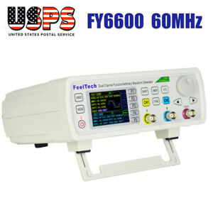 Feeltech Fy6600 60mhz Function Arbitrary Waveform Pulse Dds Signal Generator