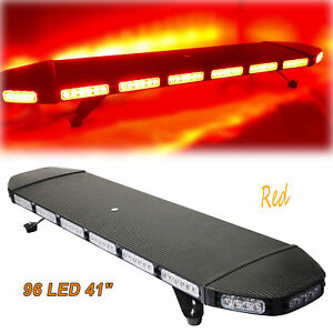 41 96 Led Flashing Light Bar Emergency Warning Police Red Roof Strobe Lamp 288w
