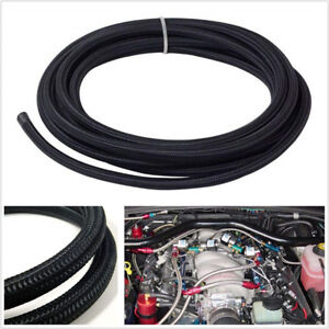 1m 3 3ft An16 Oil Fuel Line Gas Radiator Nylon Steel Braided Hose For Car Engine