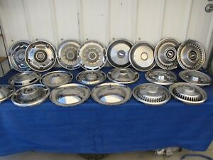 Vintage 1950 S 60 S 70 S Chevy Car Truck Hubcap Dog Dish Center Cap Lot Of 20