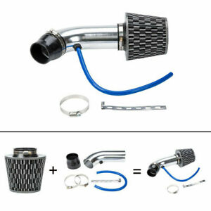 3 Universal Cold Racing High Flow Air Intake Kit Pipe System Filter Clam