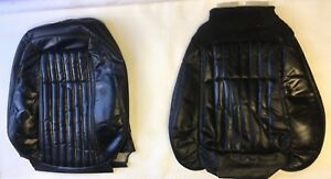 92 93 Mustang Gt Black Leather Convertible Seats Material