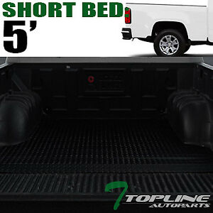 Topline For 2015 2021 Colorado Canyon 5 Rubber Truck Bed Trunk Mat Liners Blk