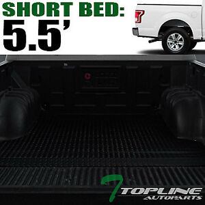 Topline For 2015 2021 Ford F150 5 5 Short Cab Rubber Truck Bed Mat Liners Blk