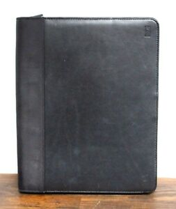 10 5 x12 5 Vtg Hartmann Black Leather Zip Around Card Holder Planner Portfolio