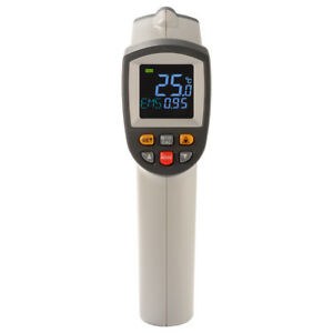 Non contact Digital Laser Infrared Thermometer Temperature Gray And Black Bi1055