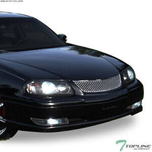 Topline For 2000 2005 Chevy Impala Mesh Front Hood Bumper Grill Grille Chrome