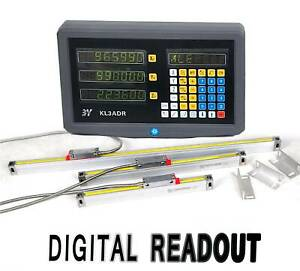 3 Axis Digital Readout Dro W High Precision Linear Scale Fits Milling Lathe