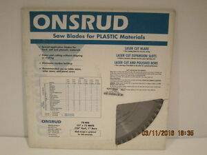 Onsrud 70 406 12 Saw Blade For Plastic Materials free Shipping New Sealed Pack