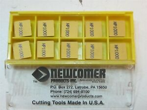 Lot Of 10 Newcomer Spg 432a Np1000 Indexable Carbide Inserts New