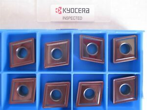 Lot Of 8 Kyocera Carbide Inserts Style Cnmg Size 643 sp Grade Pr1125 New