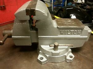 Wilton Bench Vise 5 Wide Jaws With Swivel Base Made In Usa
