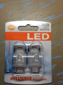 Sylvania 3157a Amber Led Lamp Bulb Pair Also Compatible With 3457a 4157a New