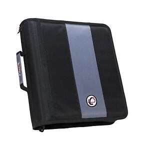 Case it Classic O ring Zipper Binder Black 2 Inches Unique Efficiently designed