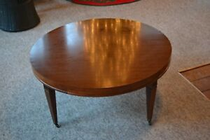 Mid Century Modern Coffee Table Round Hollywood Regency Eames Era Mersman 7688