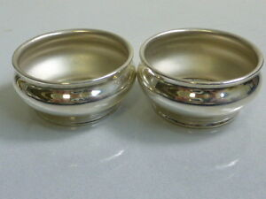 Vintage Gorham Sterling Silver Pair Of Salt Cellars