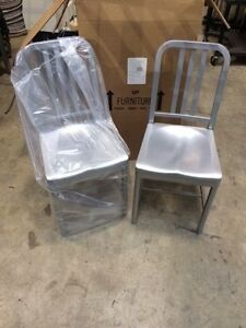 Siren Aluminum Chair Model 850 New 2 Chairs 1 Price Restaurant outdoor Dax