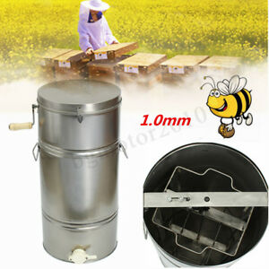2 Frame Honey Extractor Manual Beekeeping Equipment Bee Honeycomb Drum Separator