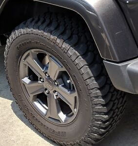 5 Jeep Jk Rubicon Wheels And Tires Withtpms Sensors Installed Plus Lug Nuts