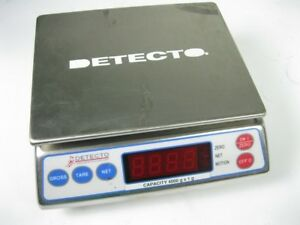 Detecto Ap 4k Portion Control Digital Weight Scale No Power Adapter
