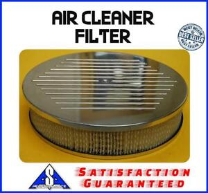 14 Aluminum Ball Milled Breather Air Cleaner Kit New