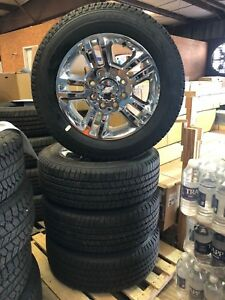 2018 Chevrolet Silverado 2500 Hd Chrome Wheels And Goodyear Lt265 60r20 Tires