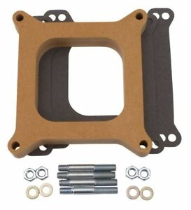 Edelbrock 8720 Carb Spacer Wood 4150 Series 1 Thick Carburetor Fits Holley
