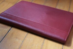 Franklin Covey Classic Sterling Leather Wirebound Planner Nwt Red Compass 35915