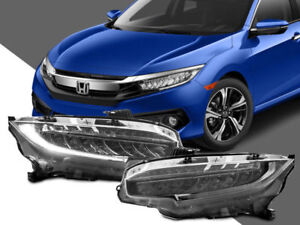 New Type R Full Led Depo Headlights For 16 17 18 Honda Civic Plug