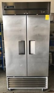 True T 35f 2 Two Solid Door Freezer Commercial Stainless Steel Reach In Casters