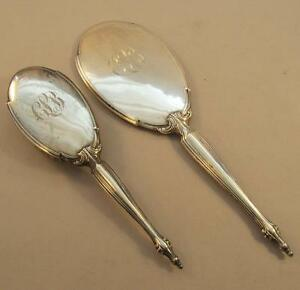 Ornate Antique Sterling Brush Mirror Set
