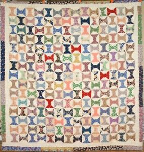 Large Beautiful Vintage 40 S Bow Tie Spool Antique Tied Quilt Mint Condition