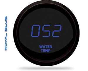 Intellitronix M9113b Led Digital Water Temp Gauge 2 1 16 50 To 350 Black Blue