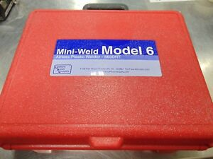 Usc Mini weld Model 6 Airless Plastic Welder M 5600ht With Case All Accessories