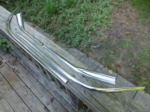 1961 Chevy Belair Impala Rear Fender Trim Molding White Paint Just Anodized