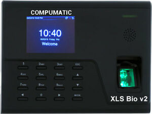New Compumatic Xls Bio V2 Biometric Fingerprint Time Clock System W Wifi Tcpip