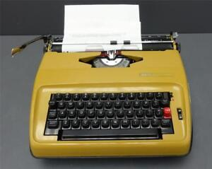 Vintage Sears Portable Typewriter Electric 1 W Carry Case Tested Works